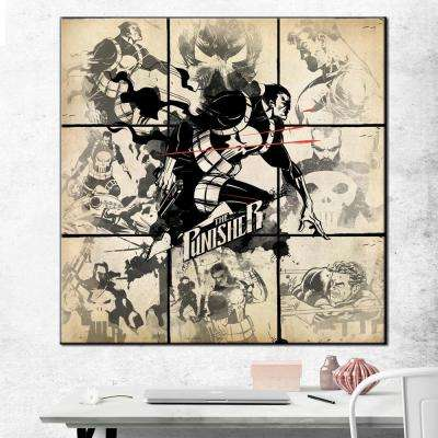 "33 in. x 33 in. ""The Punisher - Watercolor"" Printed Canvas Wall Art"