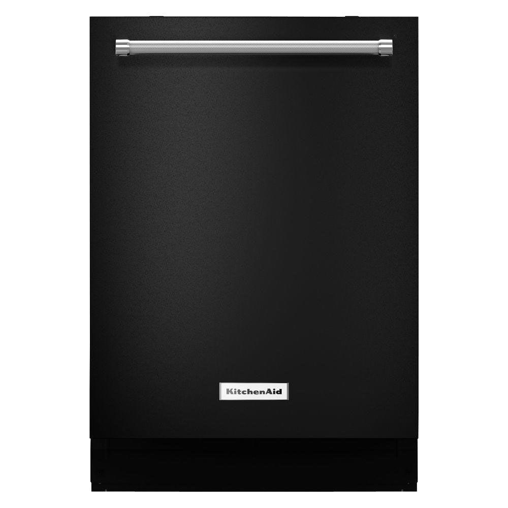 KitchenAid Top Control Dishwasher in Black with Stainless Steel Tub, ProWash Cycle, 46 dBA