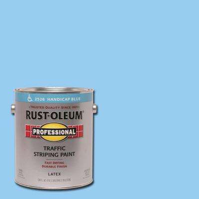 1 gal. Flat Handicap Blue Exterior Traffic Striping Paint (2-Pack)