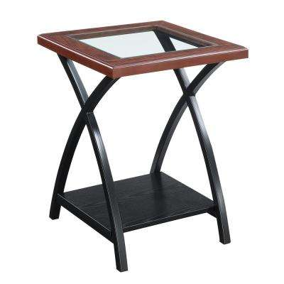 Lakeshore Cherry and Black End Table
