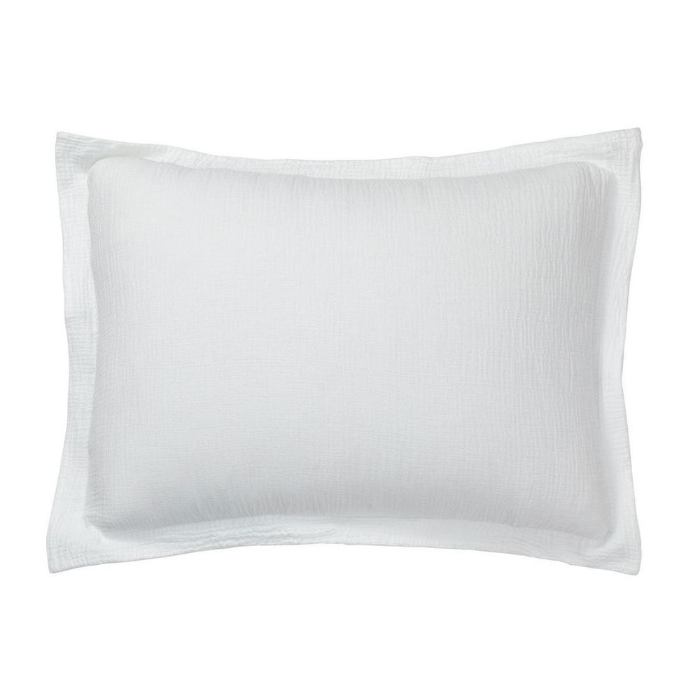 The Company Store Pryor White Solid Organic Cotton Standard Sham N2L3-STD-WHITE