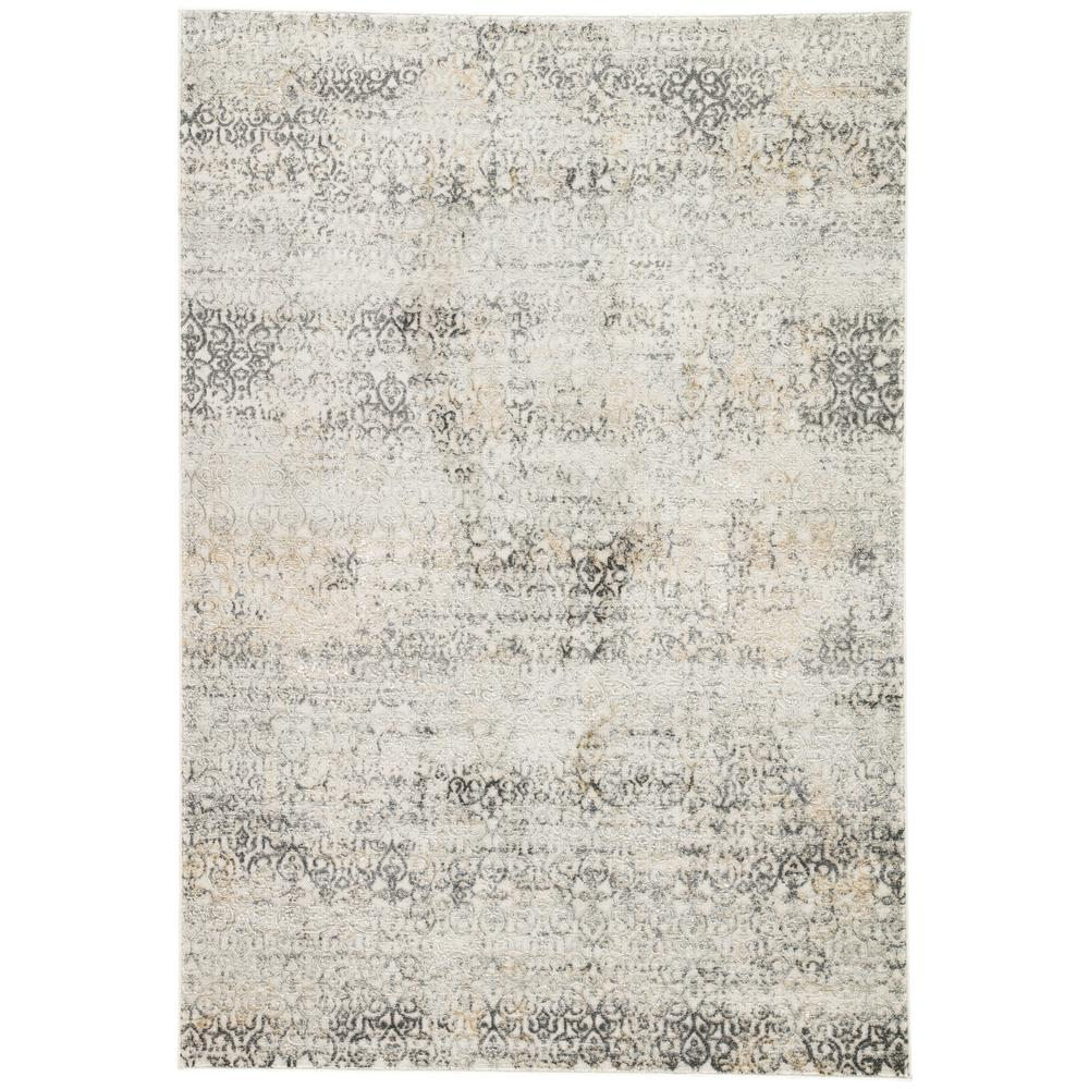 Jaipur Rugs Machine Made Light Gray 5 ft x 8 ft Trellis Area Rug