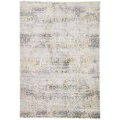Machine Made Light Gray 5 ft. x 8 ft. Trellis Area Rug