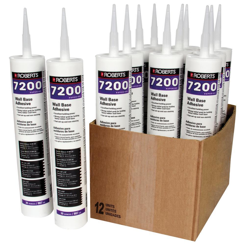 7200 30 fl. oz. Wall and Cove Base Adhesive in Cartridge Tube (12-Pack)