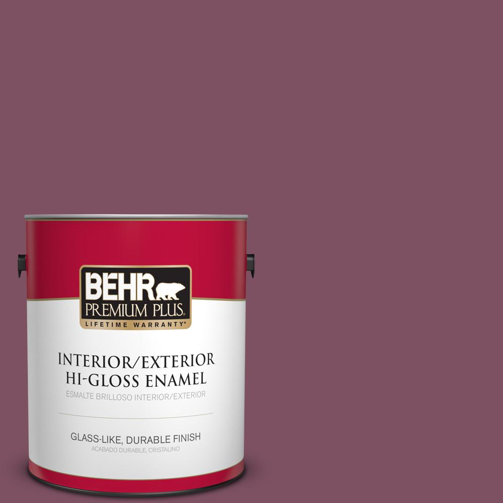 1 gal. #PPU1-19 Classic Berry Hi-Gloss Enamel Interior/Exterior Paint