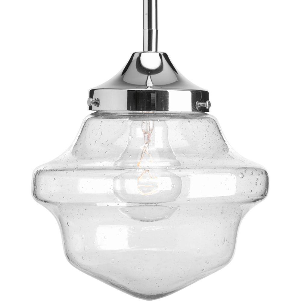 Schoolhouse Pendant Track Lighting: Progress Lighting Schoolhouse Collection 1-Light Chrome