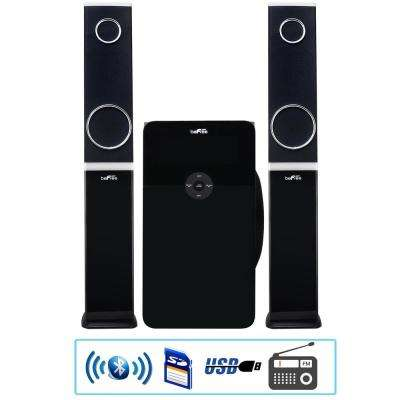 2.1-Channel Multimedia Wired Speaker Shelf System