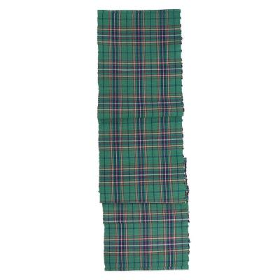 Balsam Plaid 13 in. x 72 in. Green Plaid Cotton Table Runner