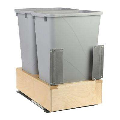 16-7/8 in. x 22-7/16 in. x 23-1/32 in. 50 Qt. Undermount Soft-Close Double Trash Can