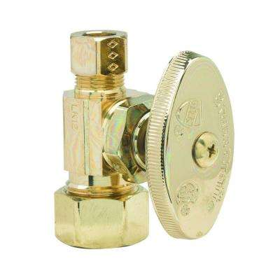 1/2 in. Nom Comp Inlet x 3/8 in. O.D. Comp Outlet Multi-Turn Straight Valve in Polished Brass