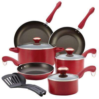 Signature 11-Piece Red Cookware Set with Lids