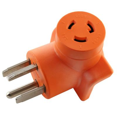 Industrial L6-20R 20 Amp 250-Volt Locking Female Connector to 4-Prong Dryer 14-30P Plug