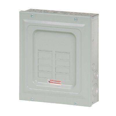 BR 125 Amp 6-Space 12-Circuit Indoor Main Lug Loadcenter with Surface Cover