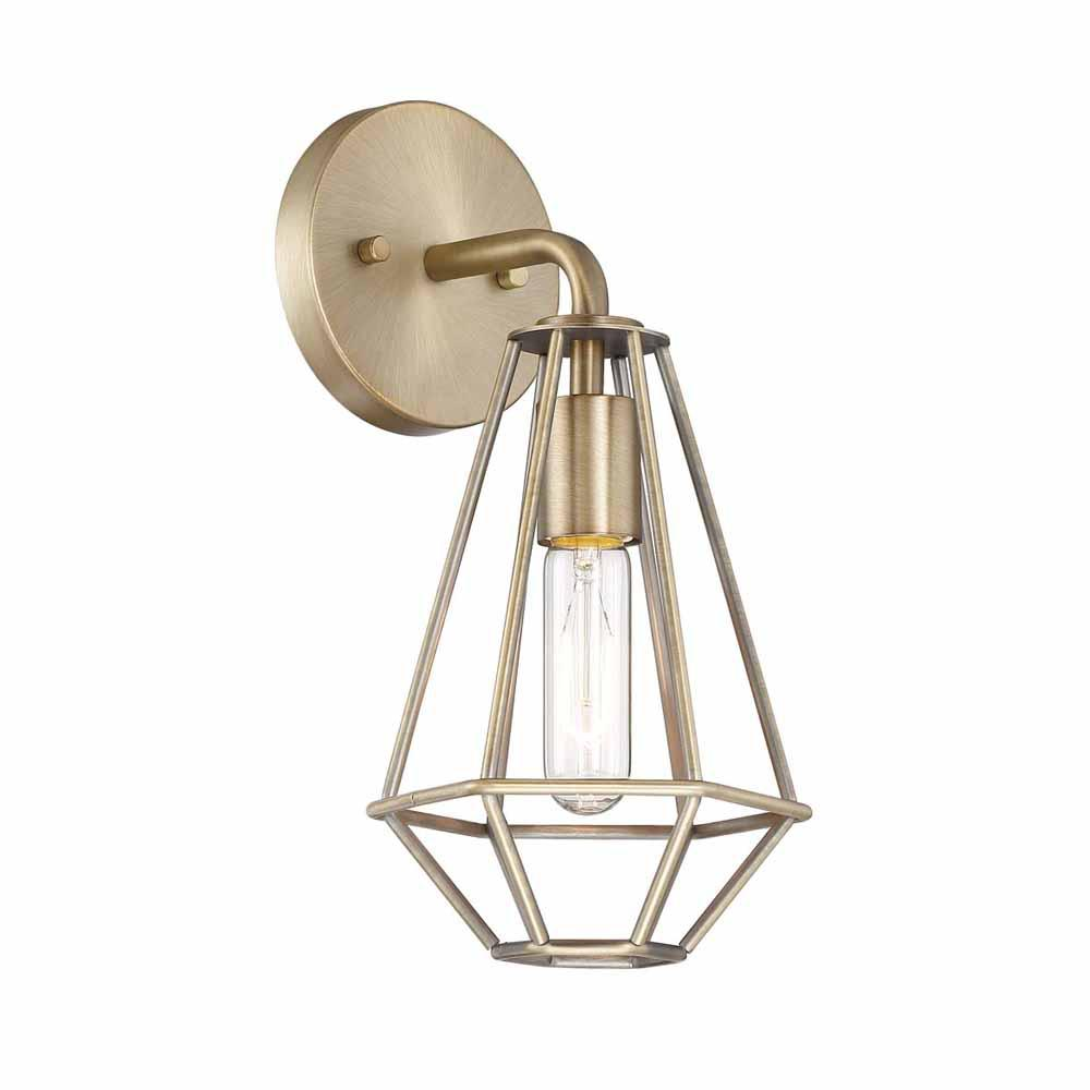 Cordelia lighting 1 light old satin brass wall sconce