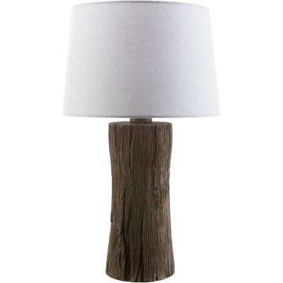 Tarsusi 26.5 in. Faux Wood Indoor/Outdoor Table Lamp