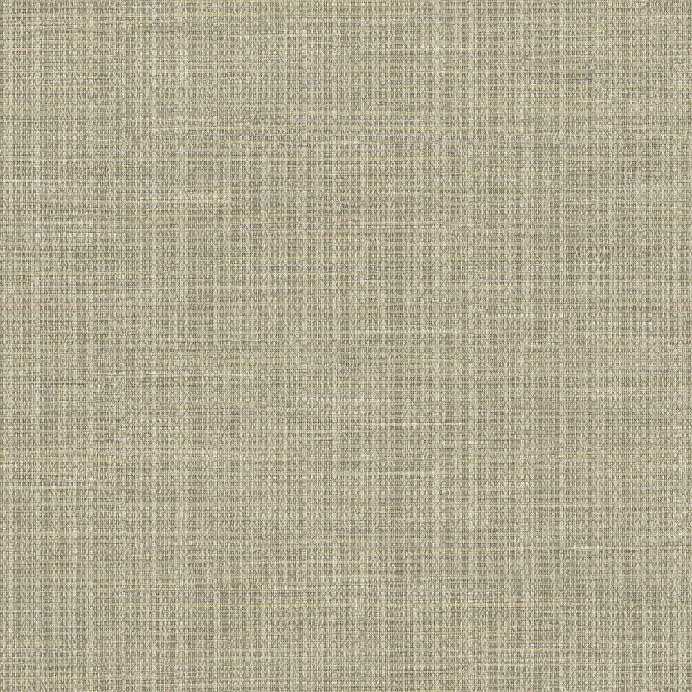 Kent Grey Faux Grasscloth Wallpaper