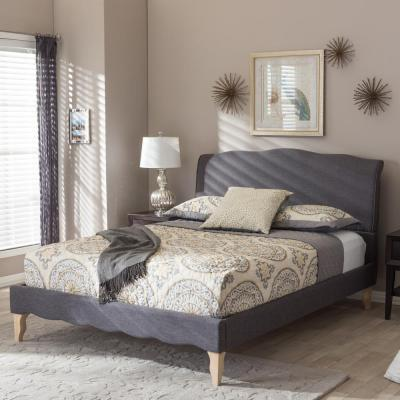 Fannie Gray King Upholstered Bed
