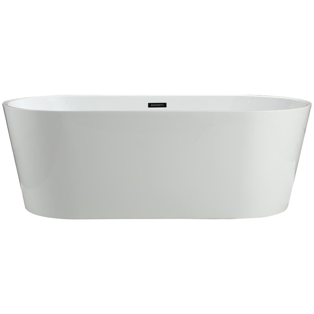 Vinnova Lumina 5.6 ft. Acrylic Flatbottom Non-Whirlpool Bathtub in ...
