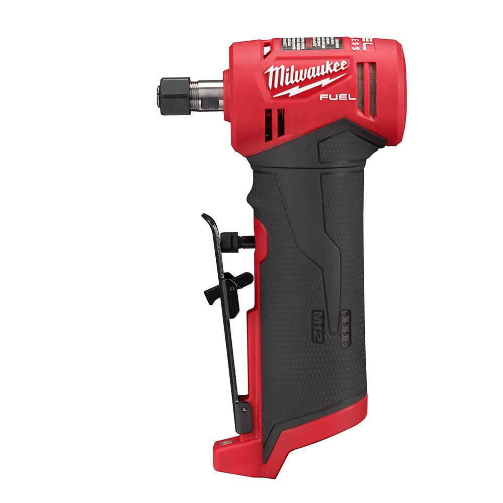 Milwaukee M12 FUEL 12-Volt Lithium-Ion Brushless Cordless 1/4 in. Right Angle Die Grinder (Tool-Only)