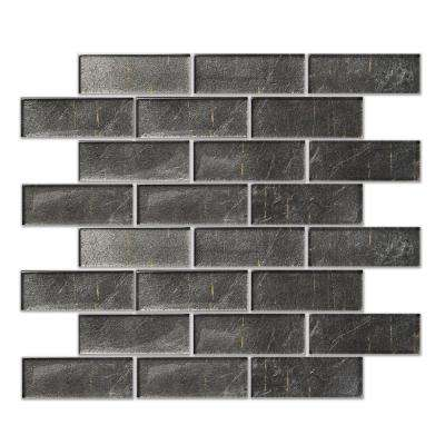 Folia Athirium Light Grey 12 in. x 12 in. x 6.35 mm Glass Mesh-Mounted Mosaic Tile (10 sq. ft. / case)