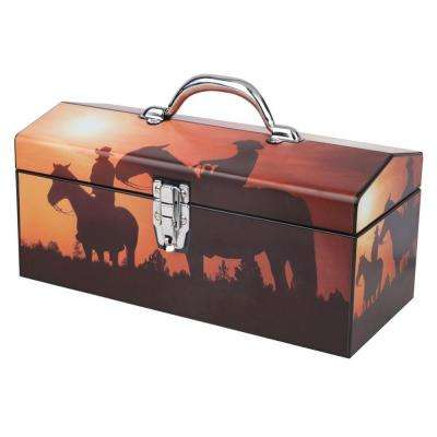 16 in. Home on the Range Art Tool Box, Brown