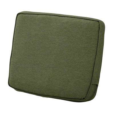 Montlake 21 in. W x 20 in. x 4 in. Thick Heather Fern Green Rectangular Outdoor Lounge Chair Back Cushion