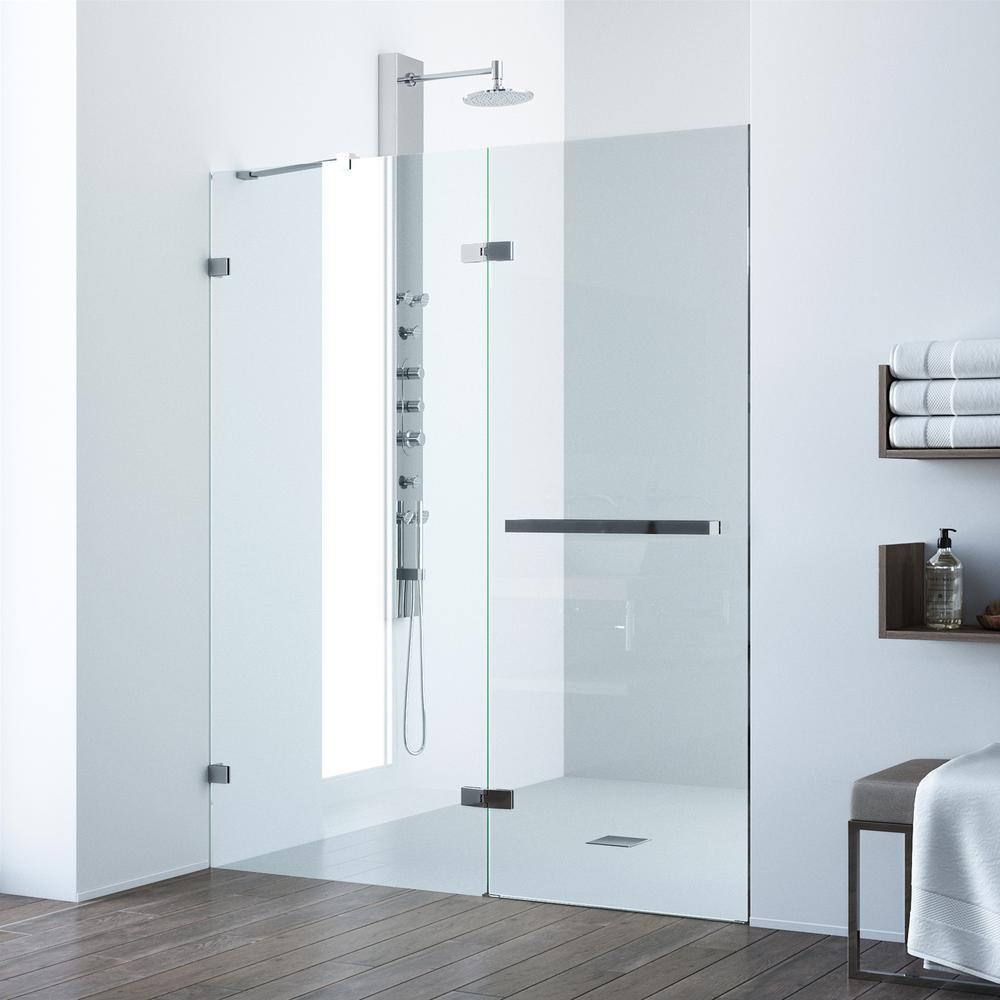 Stainless Steel - Alcove Shower Doors - Shower Doors - The Home Depot