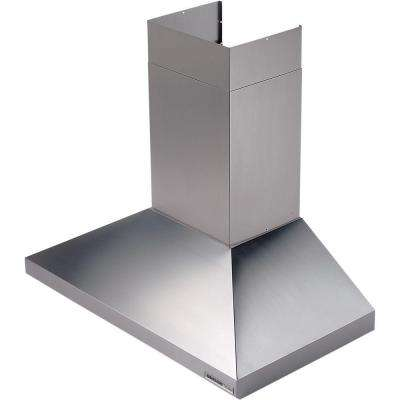 Elite 61000 48 in. Wall Mount Chimney Range Hood with Light in Stainless Steel