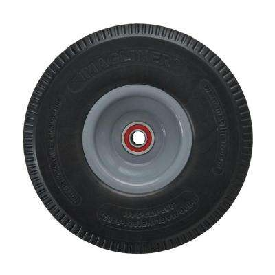 10 in. x 3-1/2 in. Hand Truck Wheel Microcellular Foam with Sealed Semi-Precision Bearings