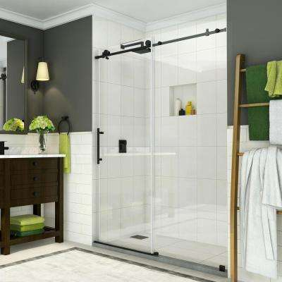 Coraline 56 - 60 in. x 76 in. Completely Frameless Sliding Shower Door in Oil Rubbed Bronze