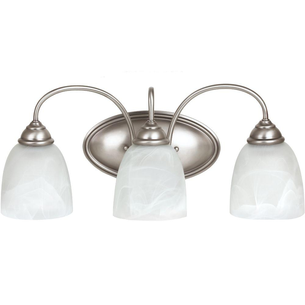 Sea Gull Lighting Lemont 3-Light Antique Brushed Nickel Vanity Light