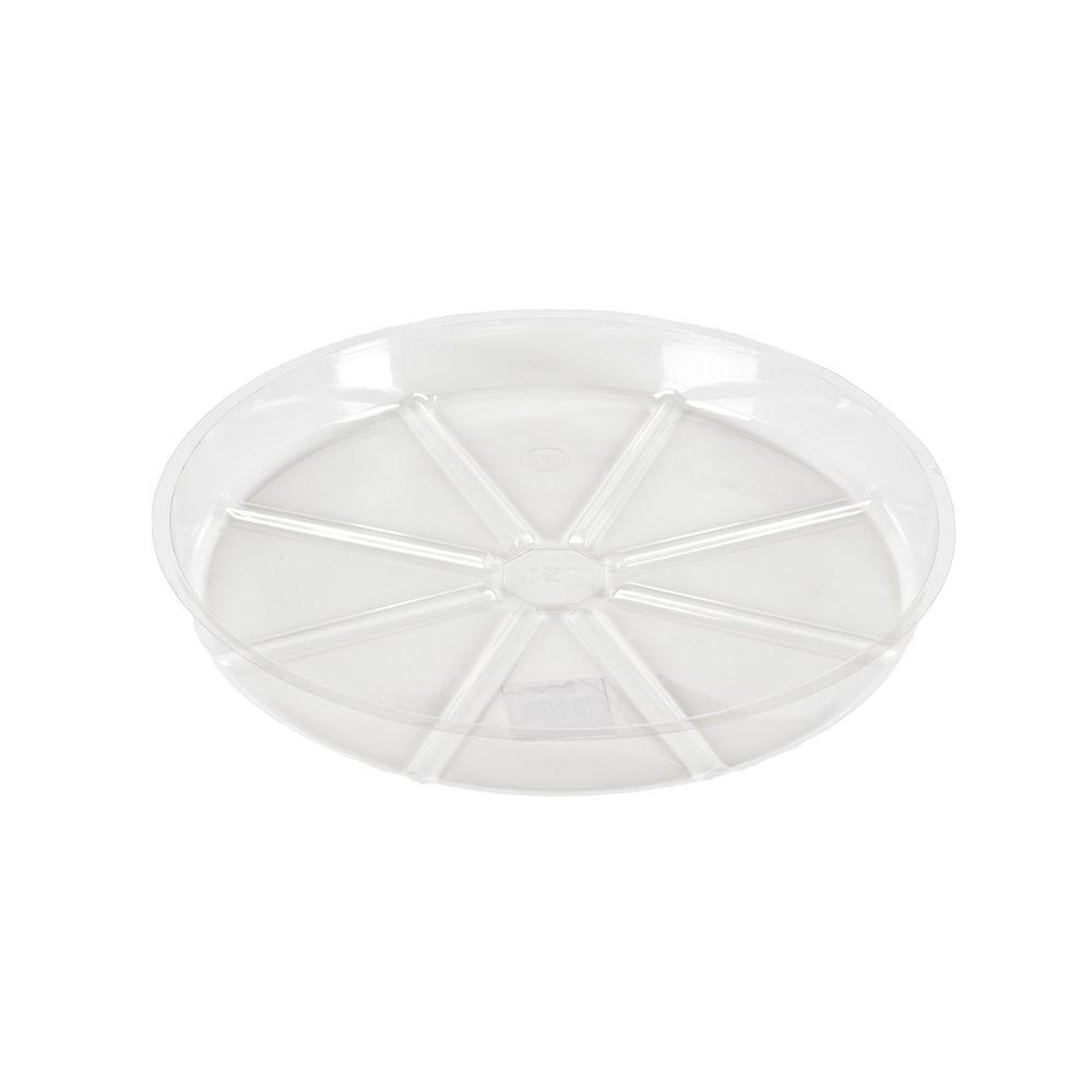 14 in. Clear Plastic Saucer