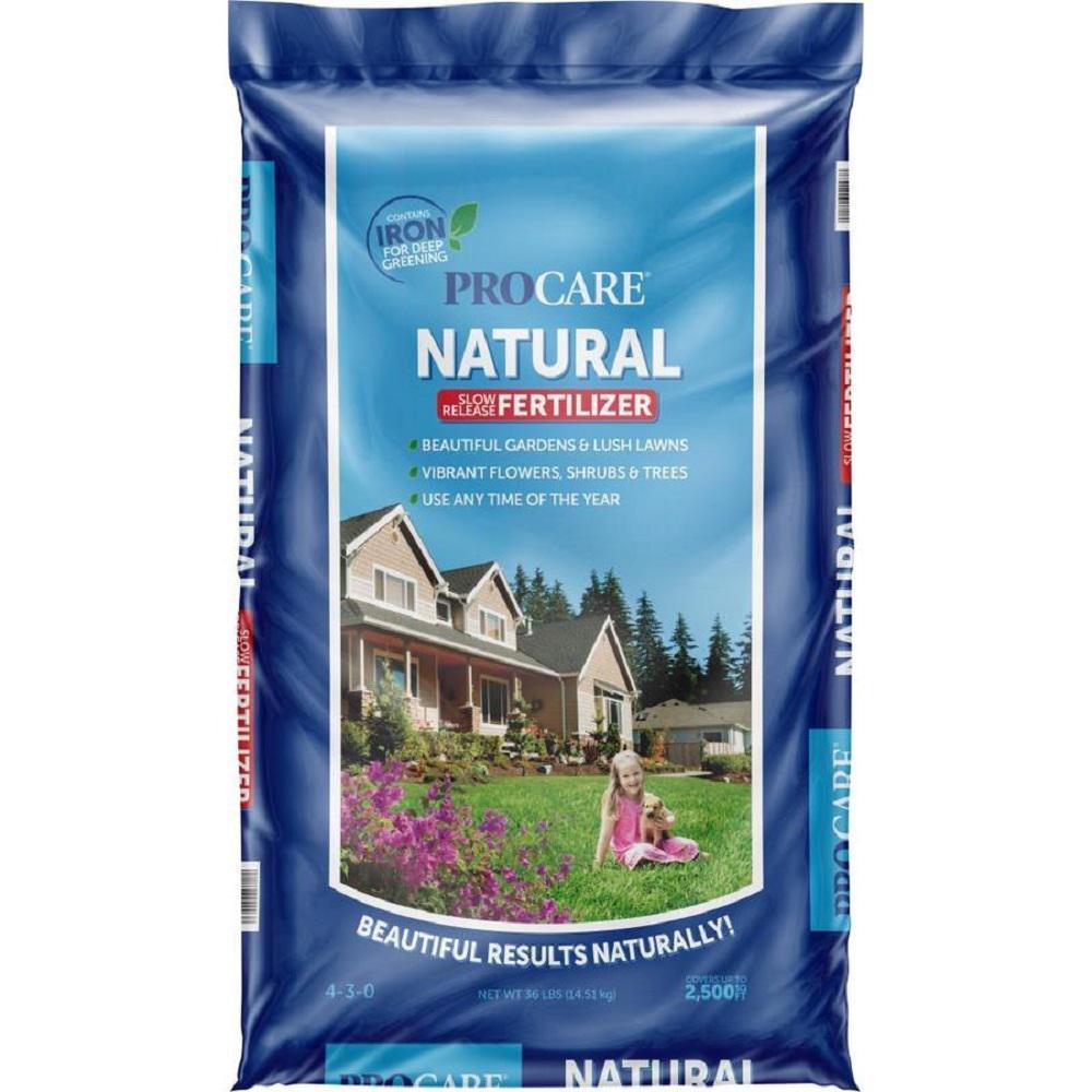 36 lbs. Natural Fertilizer 4-3-0