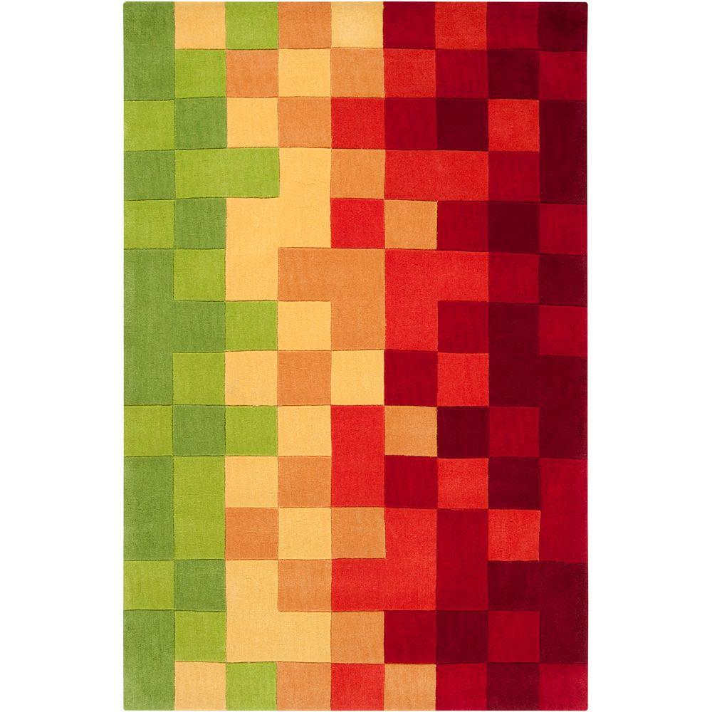 Artistic Weavers Navajo Bright Chartreuse 8 Ft. X 11 Ft. Area Rug