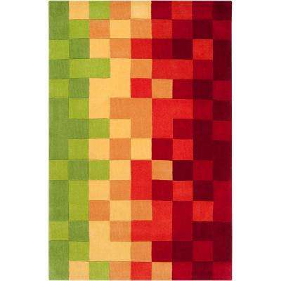 Navajo Bright Chartreuse 8 ft. x 11 ft. Area Rug