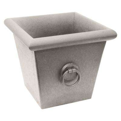 Piazza 22 in. W x 20 in. H Ivory Rubber Self-Watering Planter