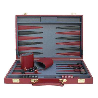 15 in. Red/Black Backgammon
