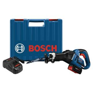 Bosch 18-Volt Lithium-Ion Cordless Variable Speed Multi-Grip Reciprocating Saw Kit with Core 18-Volt Battery by Bosch