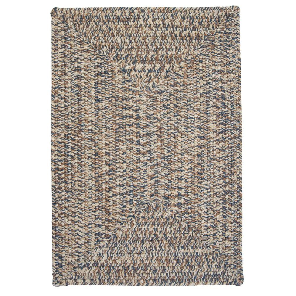 Wesley Lake Blue 10 ft. x 13 ft. Rectangle Braided Accent