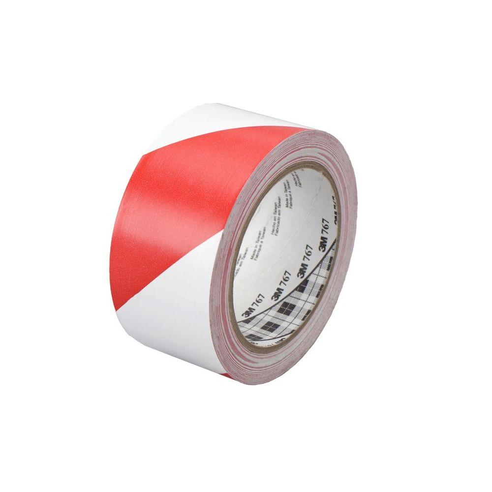 TEKK Protection 2 in. x 36 yd. Red and White Safety Stripe Tape