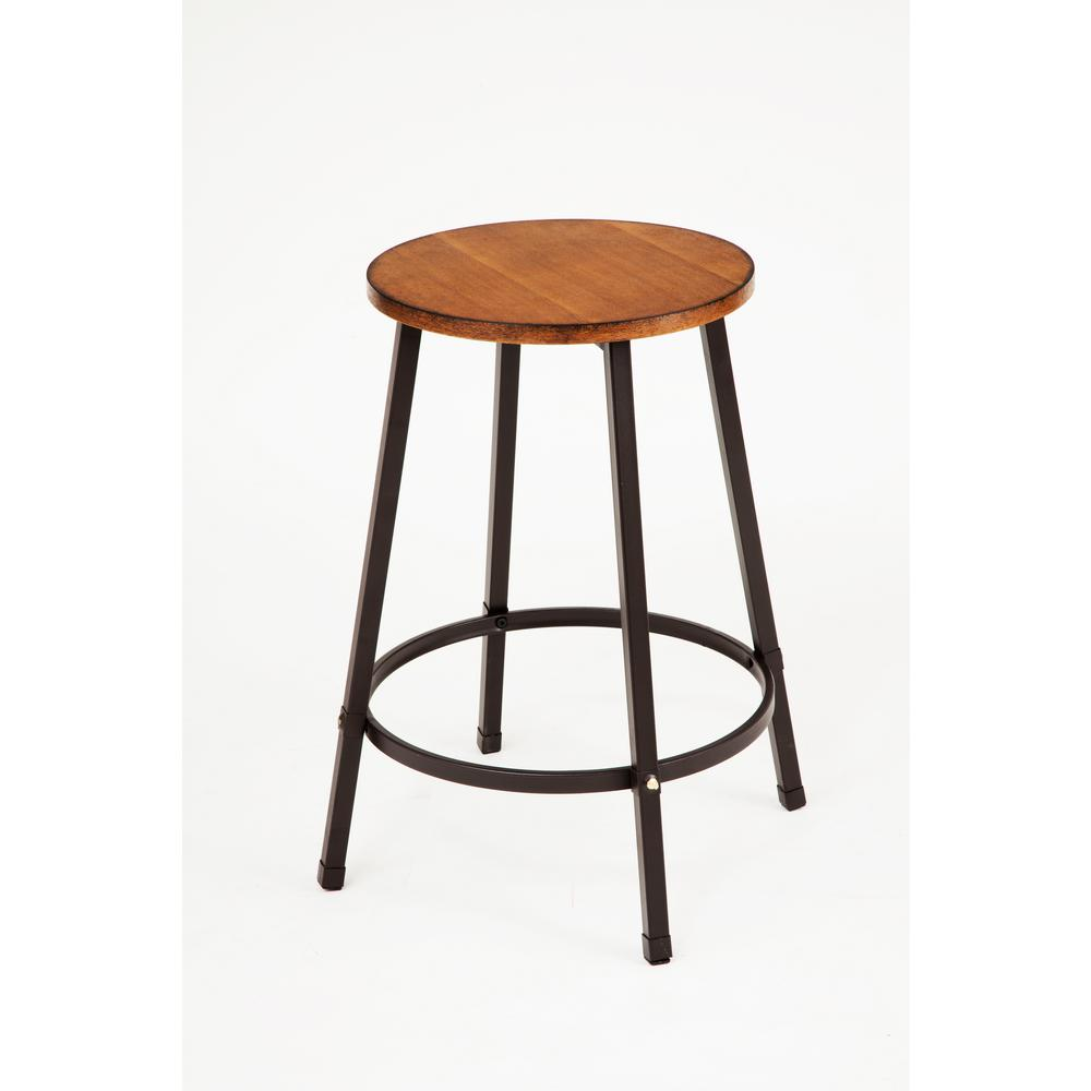 Acme Furniture Dora 24 In Oak Bar Stool Set Of 4 72287 The Home