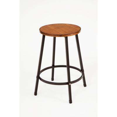 Dora 24 in. Oak Bar Stool (Set of 4)