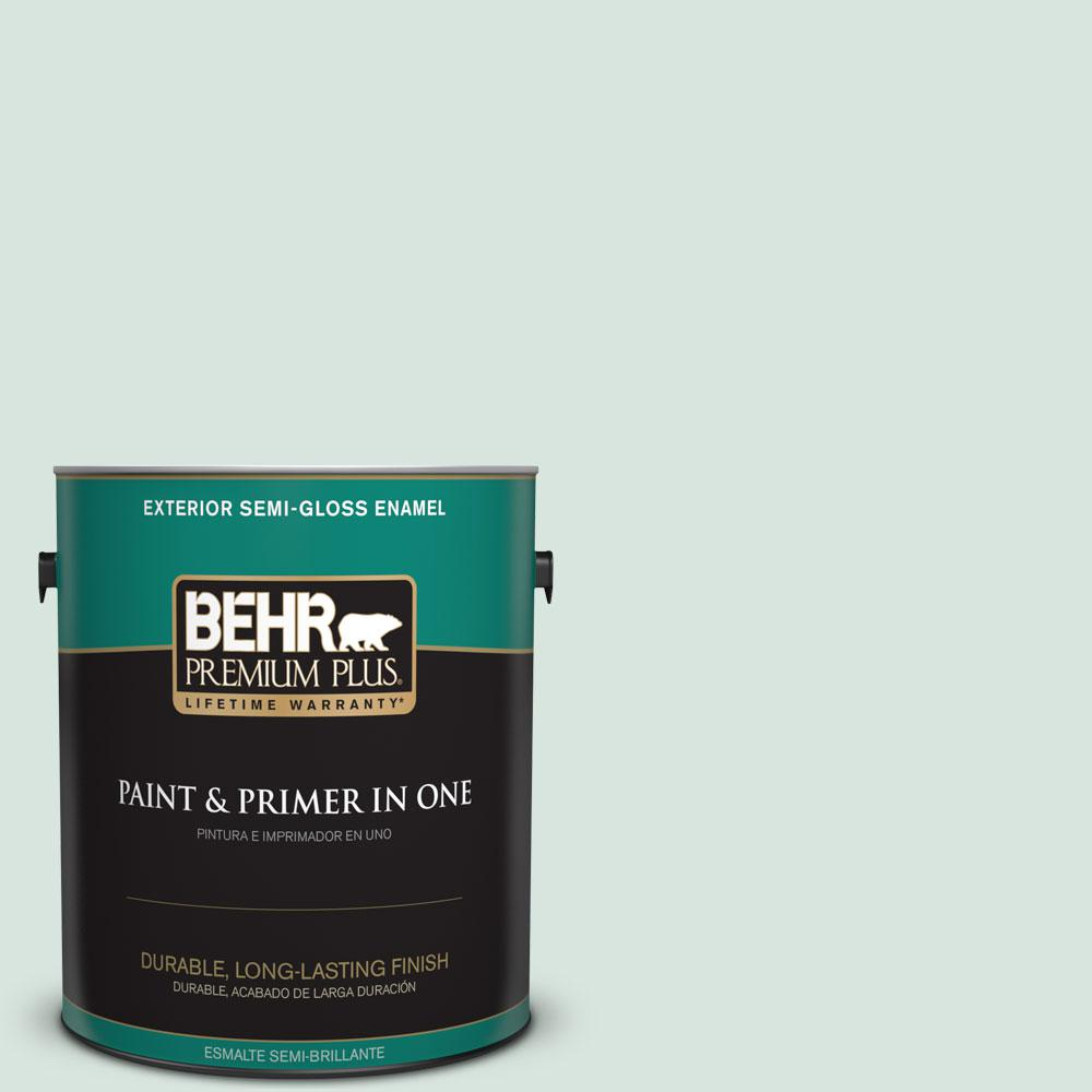 1-gal. #S420-1 New Day Semi-Gloss Enamel Exterior Paint