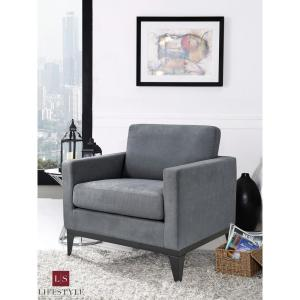 Lifestyle Solutions Delray Large Chair With Hardwood Frame ...