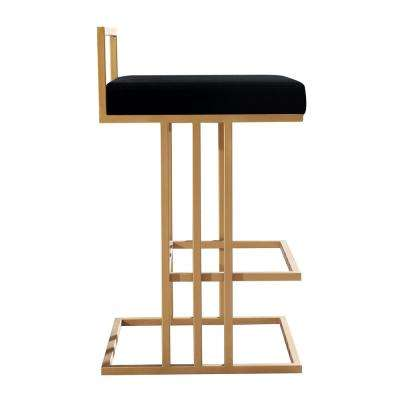 Trevi 26 in. Black Counter Stool