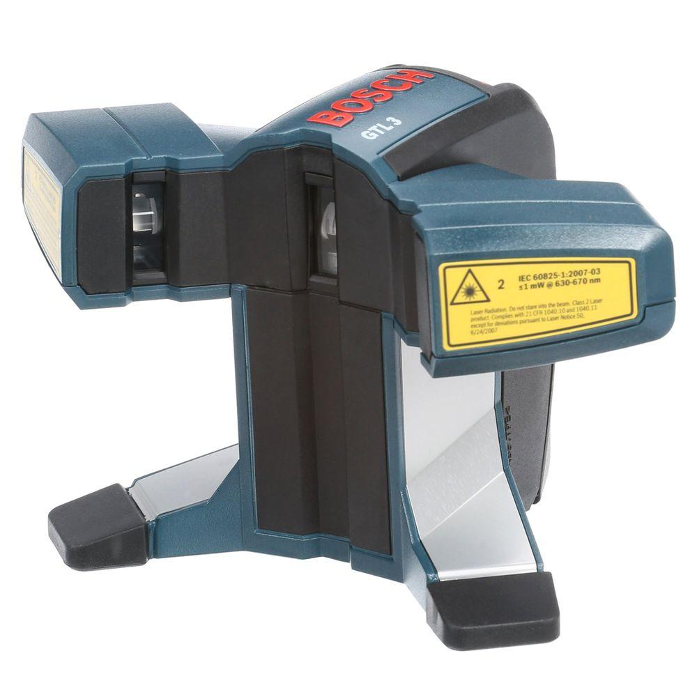 bosch tile and square layout laser level (3 piece)-gtl3 - the home depot