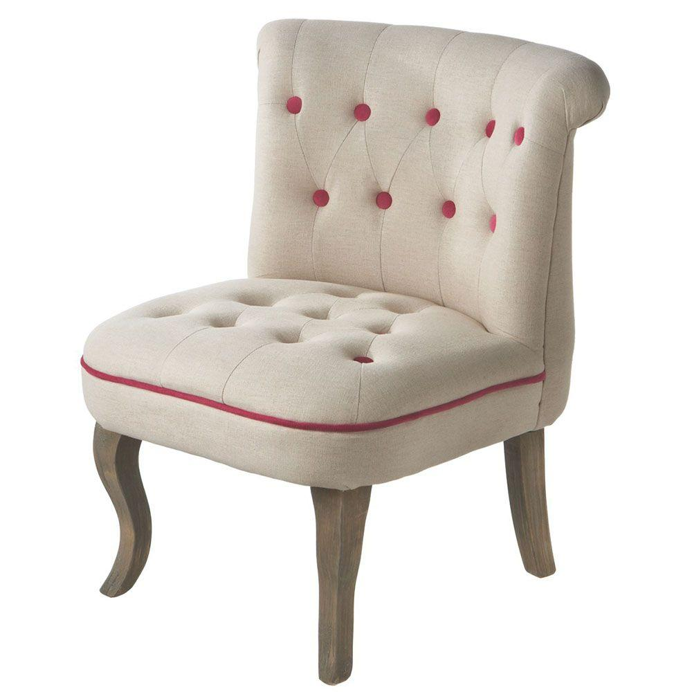 Filament Design Sundry Tufted Chair in Raspberry