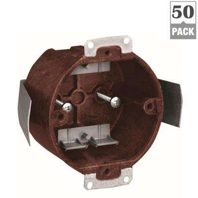 14 cu. in. Old Work Round Fixture Outlet Box (50-Pack)