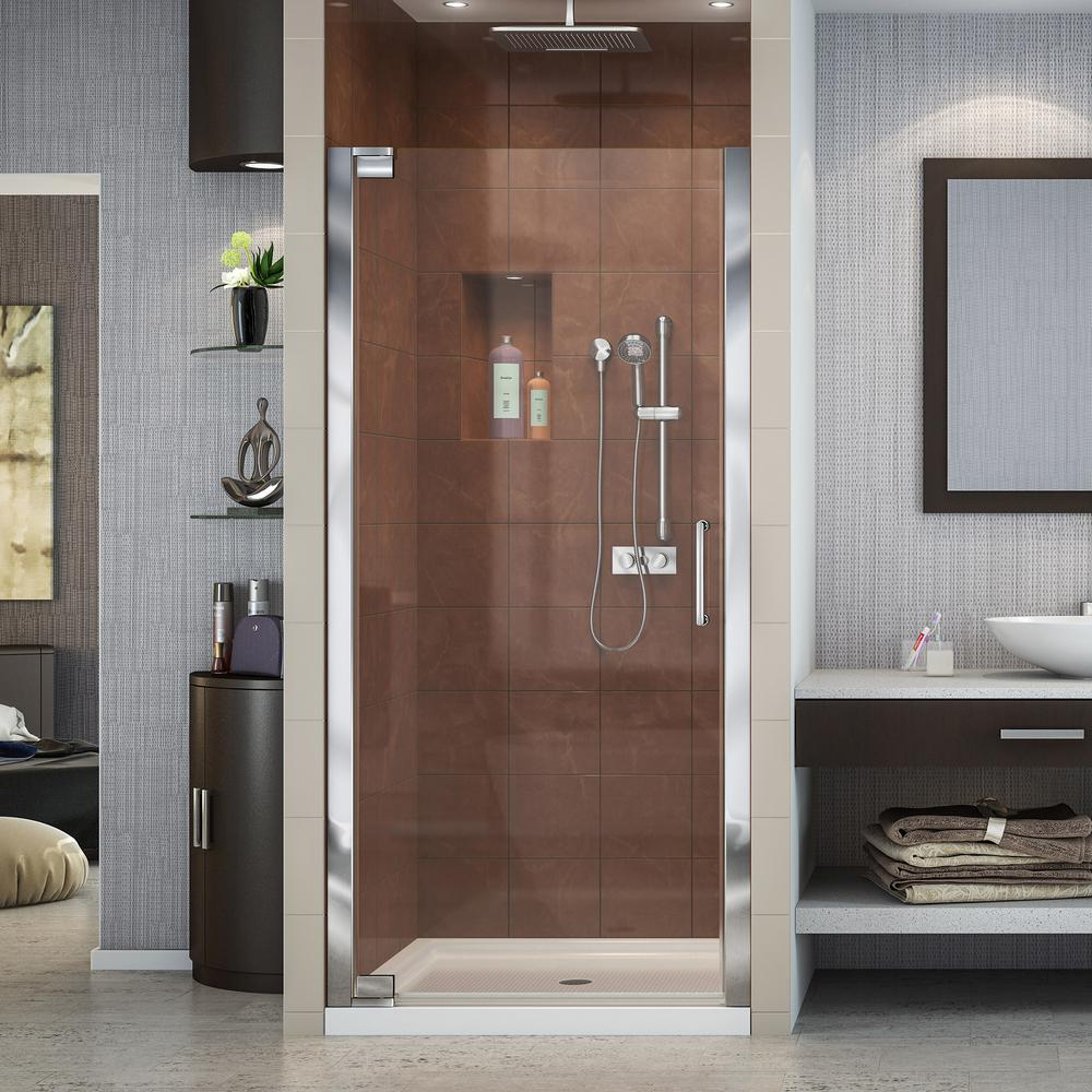 Dreamline Elegance 34 In To 36 X 72 Semi Frameless Pivot Shower Door Chrome