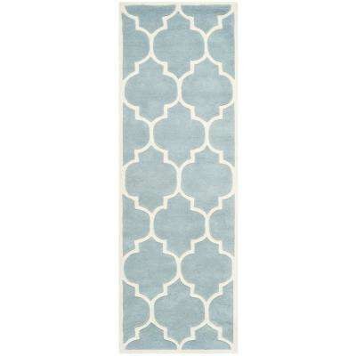 Chatham Blue/Ivory 2 ft. x 17 ft. Runner Rug